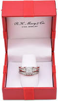 Macy's Diamond Cluster Channel-Set Bridal Set (1 ct. t.w.) in 14k White Gold