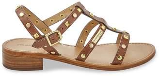 Les Tropéziennes Leather Studded Strap Heeled Sandals