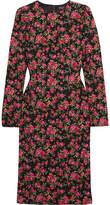 Dolce & Gabbana Roseline Floral-print Crepe Midi Dress - Pink