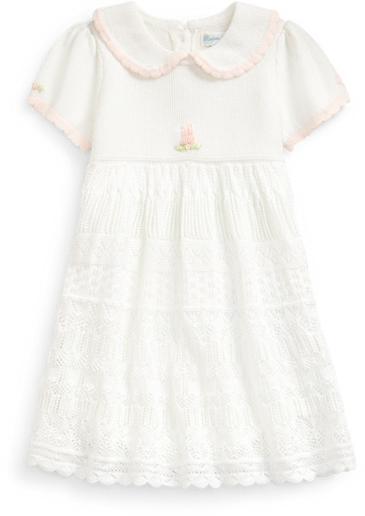 Ralph Lauren Pointelle-Skirt Jumper Dress