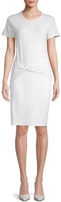 James Perse Short-Sleeve Twist-Front Dress