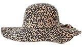 Charlotte Russe Leopard Print Felt Floppy Hat