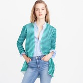 J.Crew Collection gingham cardigan sweater in gauzy cotton