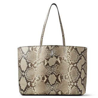 Jimmy Choo NINE2FIVE E/W Natural Python Tote Bag with JC Logo