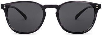 Oliver Peoples Finley Esq. Sun in Charcoal Tortoise | FWRD