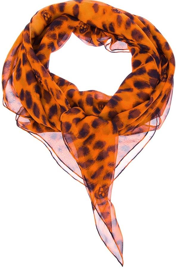 Alexander McQueen animal print scarf