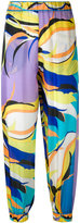 Emilio Pucci abstract print cropped trousers - women - Silk - 40