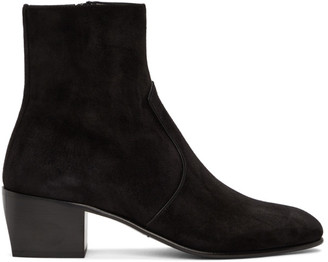 Saint Laurent Black Suede James Boots