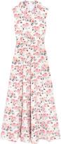 Emilia Wickstead Fabiola Floral-print Cloqué Midi Dress - Pink