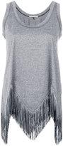 Marco De Vincenzo fringe sleeveless top - women - Cotton/Acetate - 40