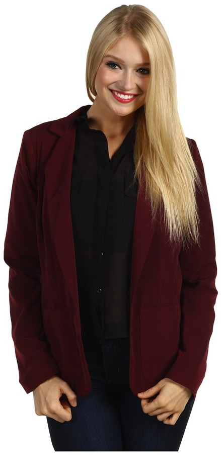 Brigitte Bailey Sara Blazer (Burgundy) - Apparel