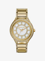 Michael Kors Kerry Pave-Embellished Gold-Tone Watch