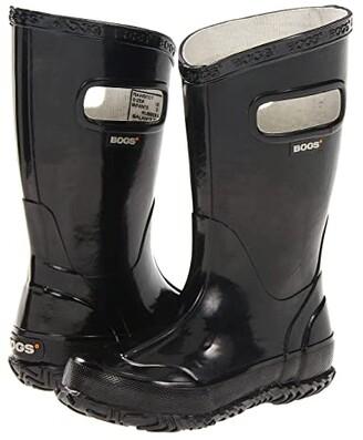 Bogs Glosh Solid Rain Boot (Toddler/Little Kid/Big Kid) (Black) Kids Shoes