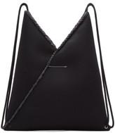 MM6 MAISON MARGIELA Black Mesh Drawstring Backpack