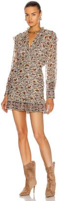 Veronica Beard Jaylene Dress in Bone Multi | FWRD