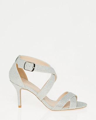 Le Château Glitter Mesh Criss-Cross Sandal