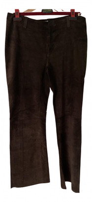 Marni Brown Suede Trousers