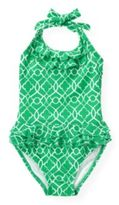 Janie and Jack Tile Print One-Piece Swimsuit