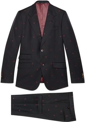Gucci Heritage bees wool gabardine suit