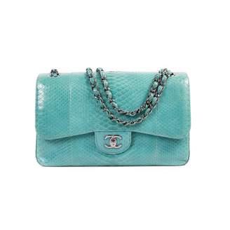 Chanel Timeless/Classique Blue Python Handbags