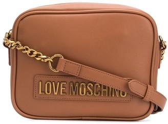 Love Moschino Logo Plaque Chain Strap Satchel Bag