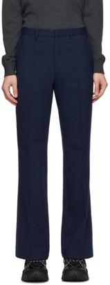 Kenzo Navy Wool Flared Trousers