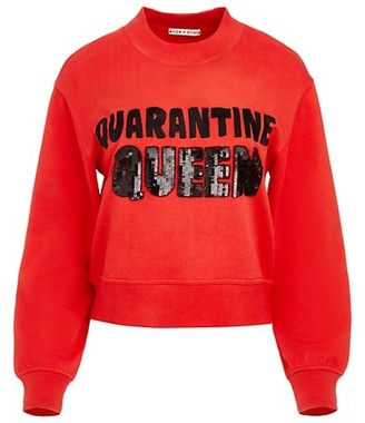 Alice + Olivia Denver Quarantine Queen Embellished Crewneck Sweater