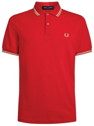 Fred Perry Cotton Stripe Detail Polo Shirt