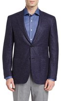 Canali Tic Two-Button Sport Coat, Navy/Plum