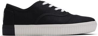 Toms Black Canvas Cupsole Cordones Women's Sneakers