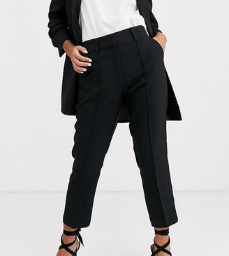 Asos DESIGN Petite tailored smart mix & match cigarette suit pants-Black