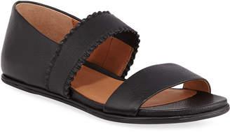Gentle Souls Lark Flat Leather Ruffle Sandals