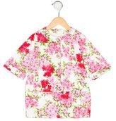 Blumarine Girls' Floral Lightweight Coat