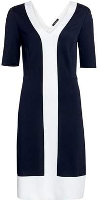 St. John Colorblock Milano Knit Midi Dress