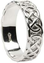 BORU Mens Closed Celtic Knot Wedding Band Size 10.5
