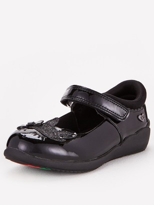 Very ToeZone at Younger Girls Unicorn Leather School Shoe - Black