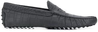 Tod's crocodile effect Gommini loafers