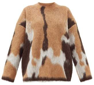 Acne Studios Kelphine Knitted Sweater - Womens - Camel