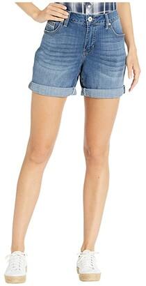 Jag Jeans Petite Alex Boyfriend Shorts (Brilliant Blue) Women's Shorts