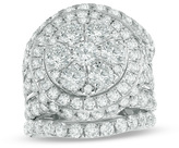 Zales 7 CT. T.W. Composite Diamond Frame Three Piece Bridal Set in 14K White Gold