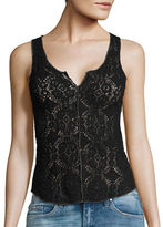 Free People Crinkled Floral Lace Cami
