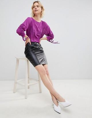 UNIQUE21 Unique 21 Pu Black Skirt