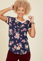 Sweet Claire Inc. Travel Team Floral T-Shirt in Navy Bloom