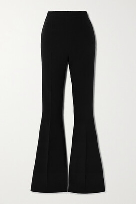 Safiyaa Halluana Stretch-crepe Flared Pants - Black