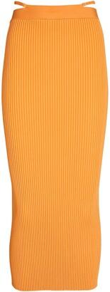 Jonathan Simkhai Sade Rib Knit Midi Skirt