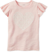 Carter's Lace Heart Cotton T-Shirt, Little Girls (2-6X) and Big Girls (7-16)