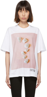 Versace White Couture Stones T-Shirt