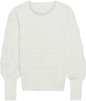 Goat Jocasta Gathered Pointelle-knit Sweater