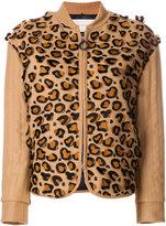 Marco De Vincenzo appliqué leopard jacket