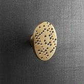 CB2 Dotted Brass Disk Drawer Pull